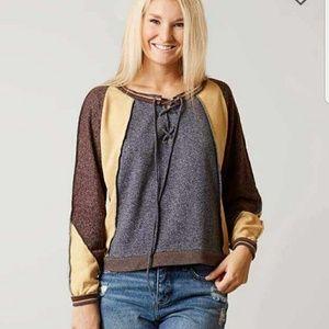 SOLD - NWT Gilded Intent Colorblock Sweatshirt - M